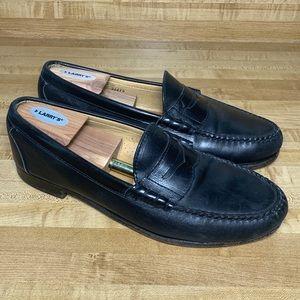 Allen Edmonds Essex Black Penny Loafers, Men's 10E